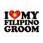 I Love My Filipino Groom Post Card