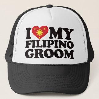 I Love My Filipino Groom Trucker Hat