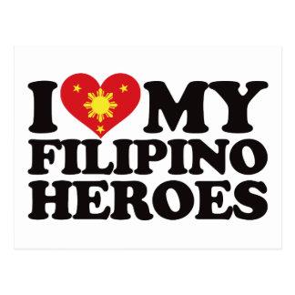 I Love My Filipino Heroes Postcard