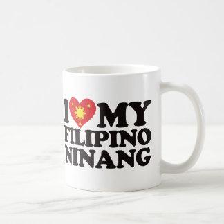 I Love My Filipino Ninang Classic White Coffee Mug