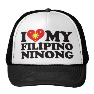 I Love My Filipino Ninong Trucker Hat