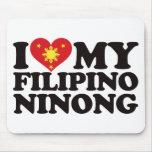 I Love My Filipino Ninong Mousepads