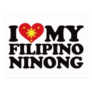 I Love My Filipino Ninong Postcard