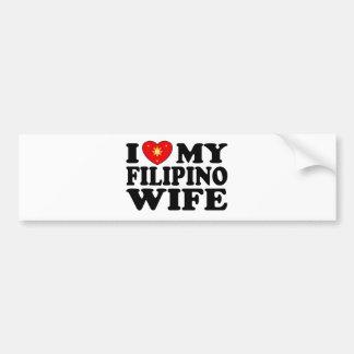 I Love My Filipino Wife Bumper Sticker