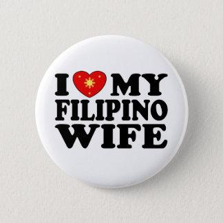 I Love My Filipino Wife Button