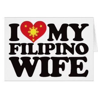 I Love My Filipino Wife Card
