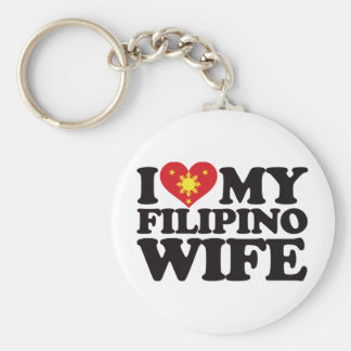 I Love My Filipino Wife Keychain