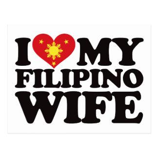 I Love My Filipino Wife Postcard