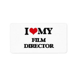 I love my Film Director Personalized Address Label