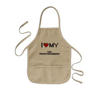 I love my Film Production Manager Kids' Apron