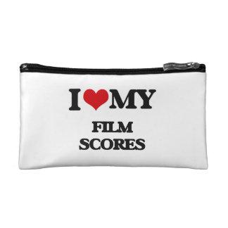 I Love My FILM SCORES Cosmetic Bag