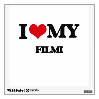 I Love My FILMI Wall Decal