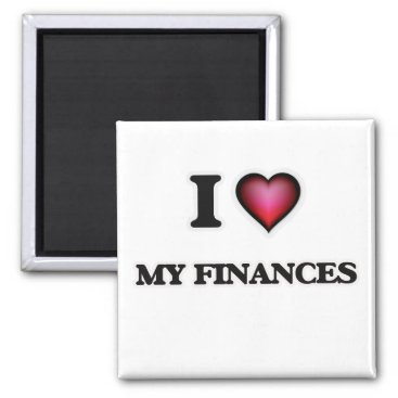 Professional Business I Love My Finances Magnet