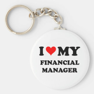 I Love My Financial Manager Key Chain