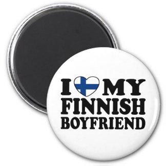 I Love My Finnish Boyfriend Magnets