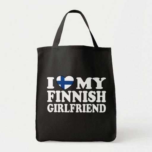 I Love My Finnish Girlfriend Bags
