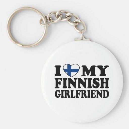 I Love My Finnish Girlfriend Key Chains