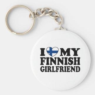 I Love My Finnish Girlfriend Keychain