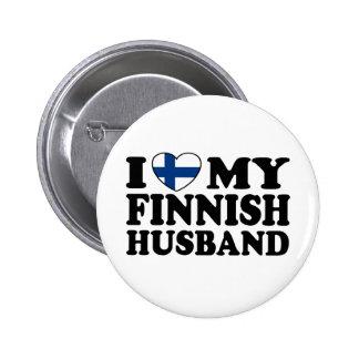 I Love My Finnish Husband Button