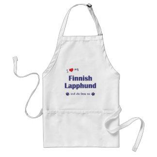 I Love My Finnish Lapphund (Female Dog) Aprons
