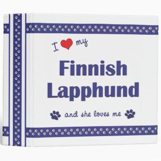 I Love My Finnish Lapphund (Female Dog) 3 Ring Binder