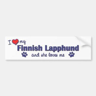 I Love My Finnish Lapphund (Female Dog) Bumper Sticker