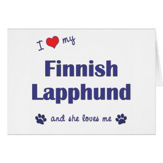 I Love My Finnish Lapphund (Female Dog) Greeting Cards