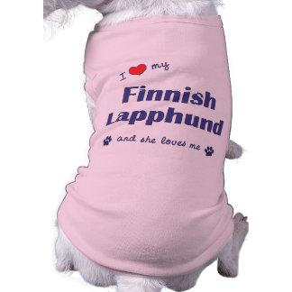 I Love My Finnish Lapphund (Female Dog) Pet Clothes