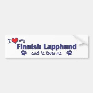 I Love My Finnish Lapphund (Male Dog) Bumper Sticker