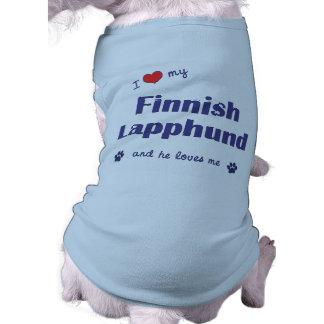 I Love My Finnish Lapphund (Male Dog) Pet T-shirt