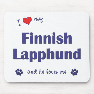 I Love My Finnish Lapphund (Male Dog) Mouse Pad