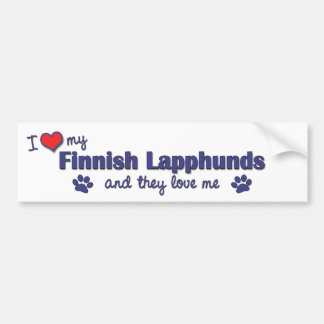 I Love My Finnish Lapphunds (Multiple Dogs) Bumper Stickers