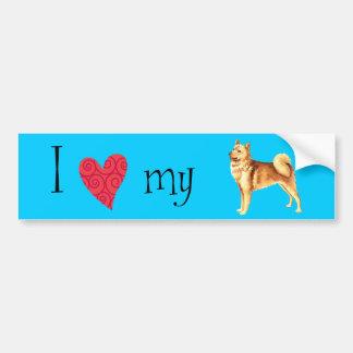 I Love my Finnish Spitz Bumper Sticker