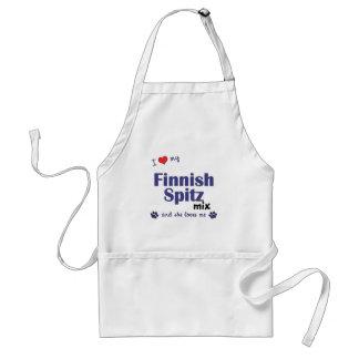 I Love My Finnish Spitz Mix (Female Dog) Adult Apron
