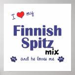 I Love My Finnish Spitz Mix (Male Dog) Poster