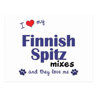 I Love My Finnish Spitz Mixes Multiple Dogs Postcards
