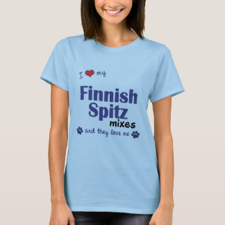 I Love My Finnish Spitz Mixes (Multiple Dogs) T-Shirt