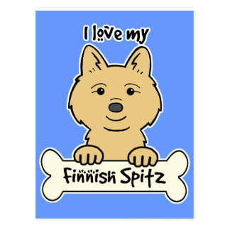 I Love My Finnish Spitz Post Cards