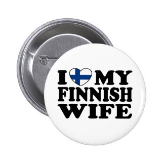 I Love My Finnish Wife Button