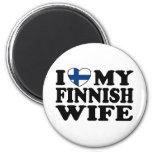 I Love My Finnish Wife Fridge Magnets
