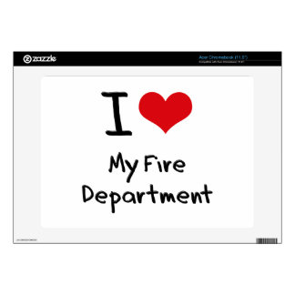 I Love My Fire Department Acer Chromebook Skins