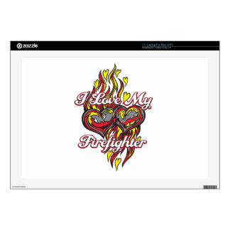 I Love My Firefighter Decal For Laptop