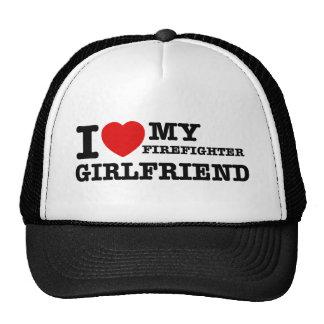 I love my Firefighter girlfriend Trucker Hat