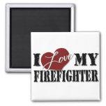 I Love My Firefighter magnet
