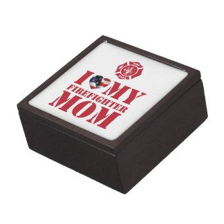 I LOVE MY FIREFIGHTER MOM PREMIUM KEEPSAKE BOXES