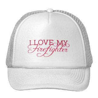 I Love My Firefighter Trucker Hat