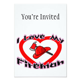I Love My Fireman Card