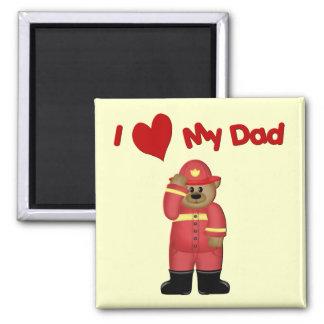 I Love My Fireman Dad Magnet