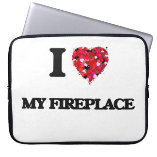 I Love My Fireplace Laptop Sleeve