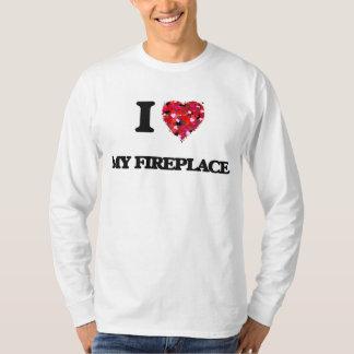 I Love My Fireplace Tee Shirts